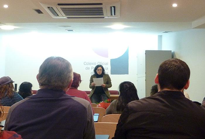 Momento da lectura de Gisela Mato Rivera da súa obra
