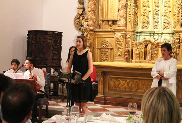 Entrega do premio ao mellor póster do III Congreso de Psicoloxía Profesional de Galicia