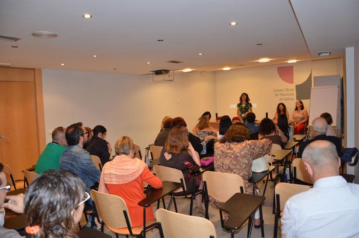 Intervención de Ana Isabel Martínez Arranz, coordinadora do GIPCE, no acto celebrado na sede do COPG