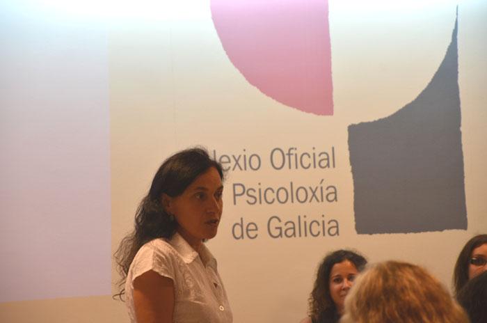 Intervención da decana, Mª Rosa Alvarez Prada, no acto celebrado no COPG