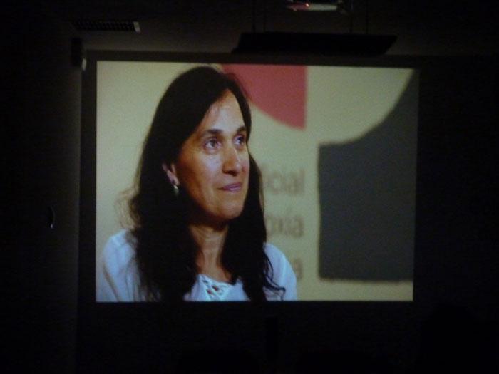 Momento da proxeción do vídeo producido polo COPG