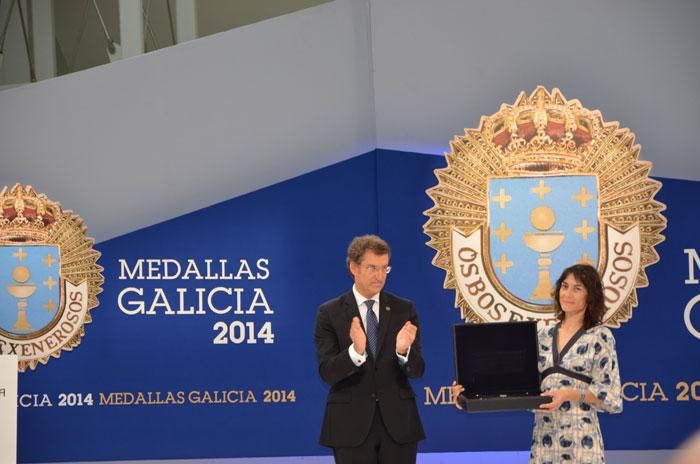 Momento da entrega da Medalla de Ouro de Galicia