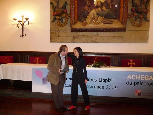 Entrega do galardón a Joel Gómez