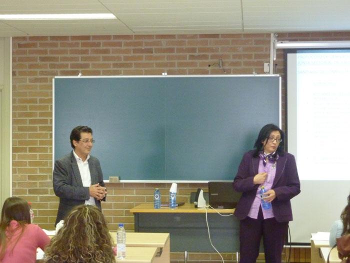 Juan Manuel Daponte e Olga Faílde, docentes do curso