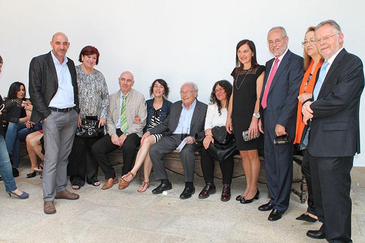 Membros da Xunta de Goberno do COPG con Eduard Punset
