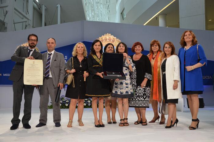 Membros do GIPCE que asistiron ao acto das Medallas de Ouro de Galicia