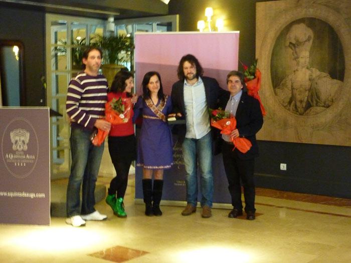 Entrega do Galardón Dolores Llópiz 2014 aos representantes da veciñanza de Angrois