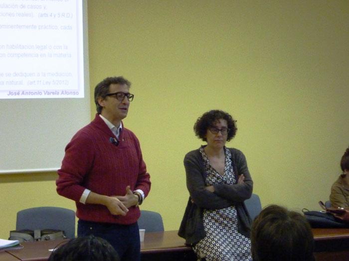 José Antonio Varela e Blanca Otero, docentes do curso