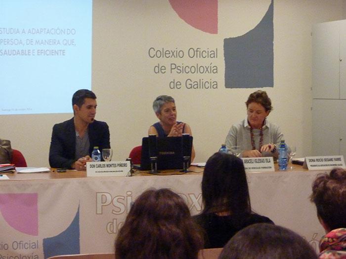 De esquerda a dereita: Carlos Montes, Araceli Iglesias e Rocío Seoane