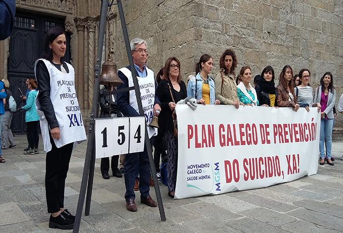 Programa Social do Congreso: Badalada 154 do Movemento Galego da Saúde Mental, do que forma parte o COPG, a cal foi dada por Mª Rosa Álvarez, Decana do COPG