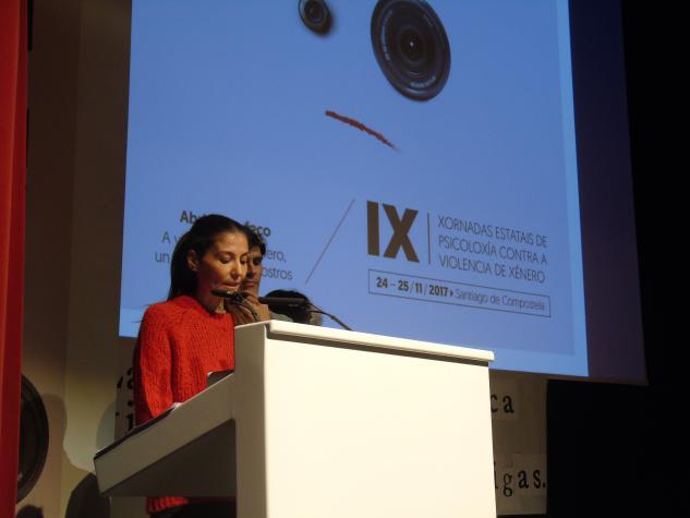 Acto de clausura con Fátima López Rodríguez, presidenta do Comité Organizador