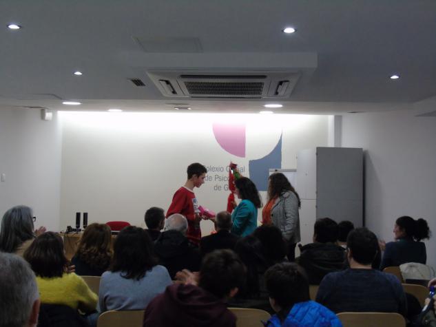 """Momento da entrega do premio """"Cartaces pola Igualdade"""""""
