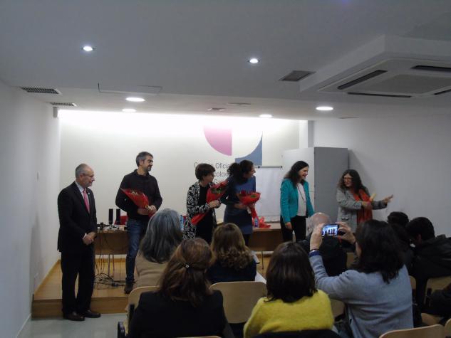 Gañadora da categoria de Poesía Verónica Martínez Delgado