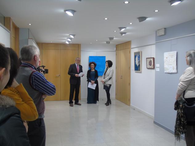 Presentación da exposición polo Vicedecano Hipólito Puente Carracedo