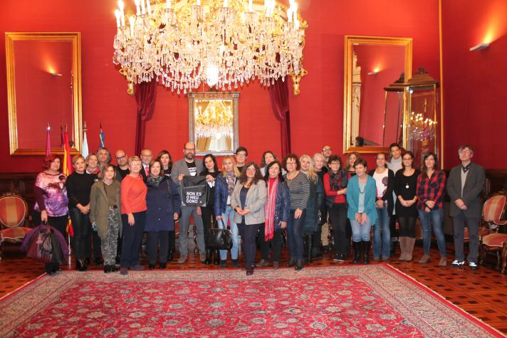 Recepción do Concello de Santiago ás IX Xornadas Estatais de Psicoloxía contra a Violencia de Xénero