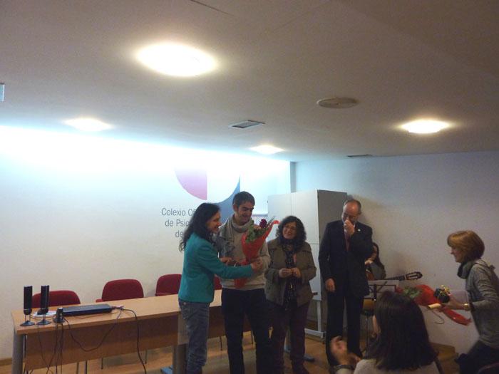 Entrega do premio a Carlos Méndez