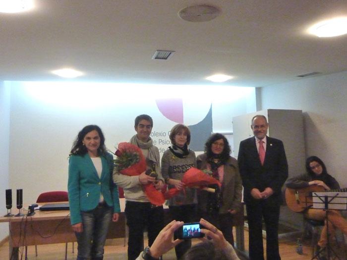 De esquera a dereita: Mª Rosa Álvarez, Carlos Méndez, Azucena Arias, Concepción Rodríguez e Hipólito Puente