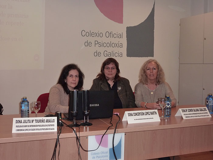 De esquerda a dereita: Julita Mª Touriño Araújo, Concepción López Martín e Leonor Galiana Caballero